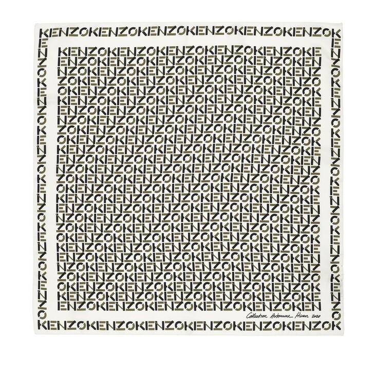 Schal, Kenzo, Monogram Scarf Off White