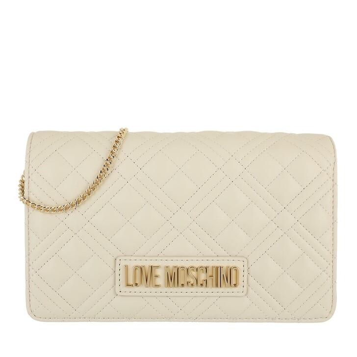 bags, Love Moschino, Borsa Quilted  Pu  Avorio