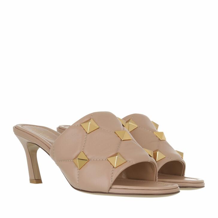 shoes, Valentino Garavani, Roman Stud Mules Rose