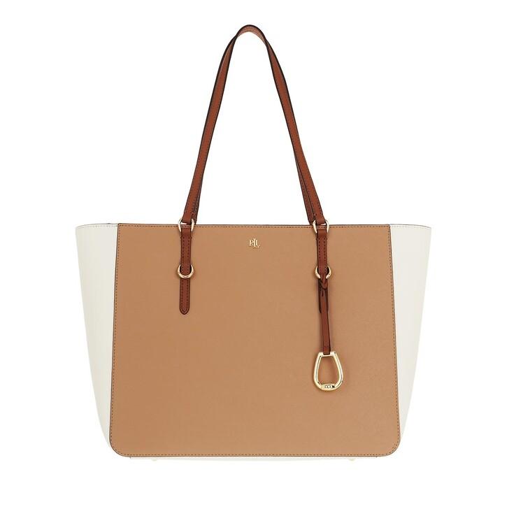 Handtasche, Lauren Ralph Lauren, Tote Tote Medium Nude/Vanilla/Lauren Tan