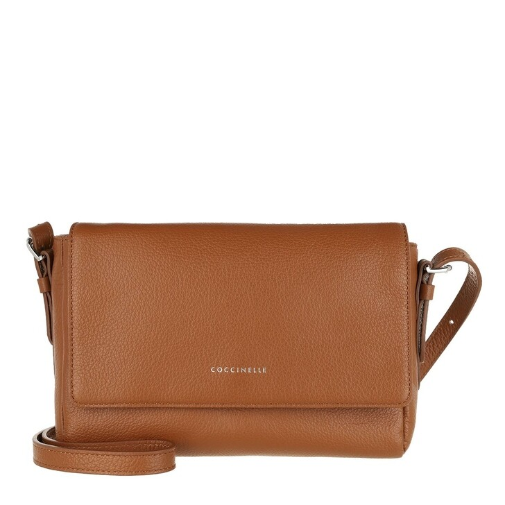 Handtasche, Coccinelle, Handbag Grained Leather Caramel