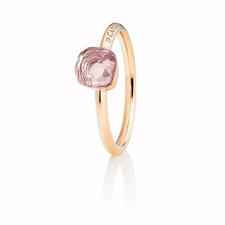 Ring, Capolavoro, Ring Happy Holi Rose Quartz Pink Diamond Rosegold