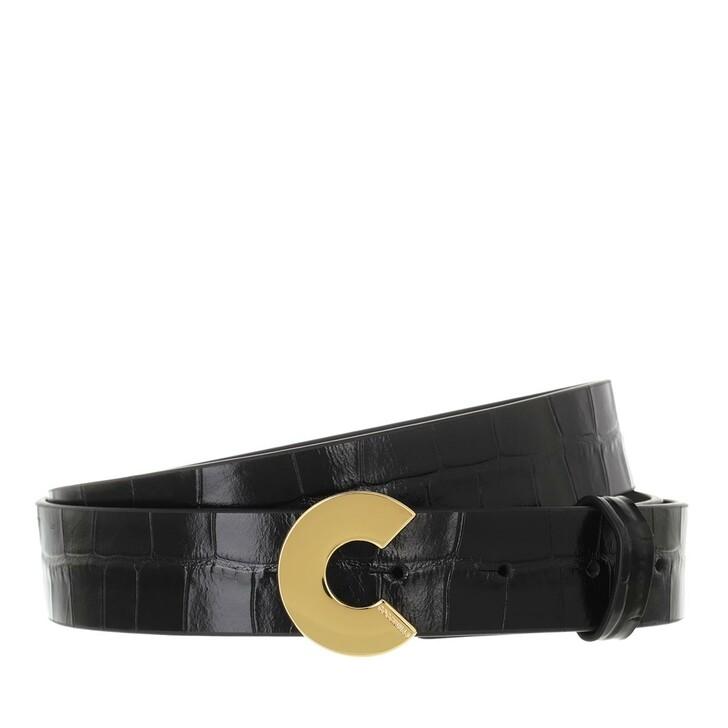 belts, Coccinelle, Belt Croco Noir