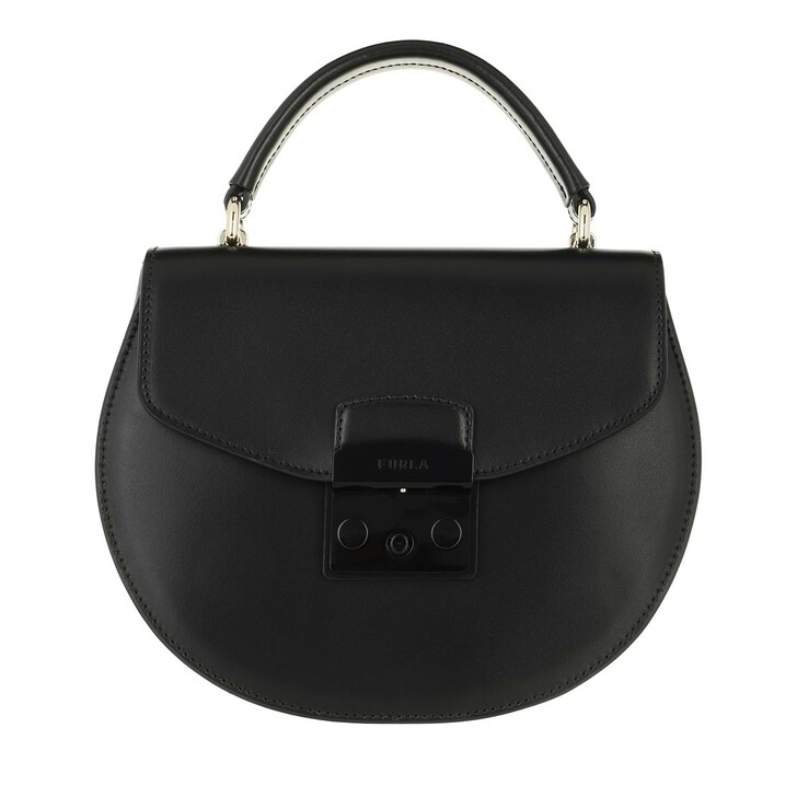 Handtasche, Furla, Metropolis S Top Handle Round Nero