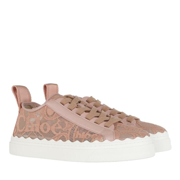shoes, Chloé, Lauren Lace Sneakers Pink Tea