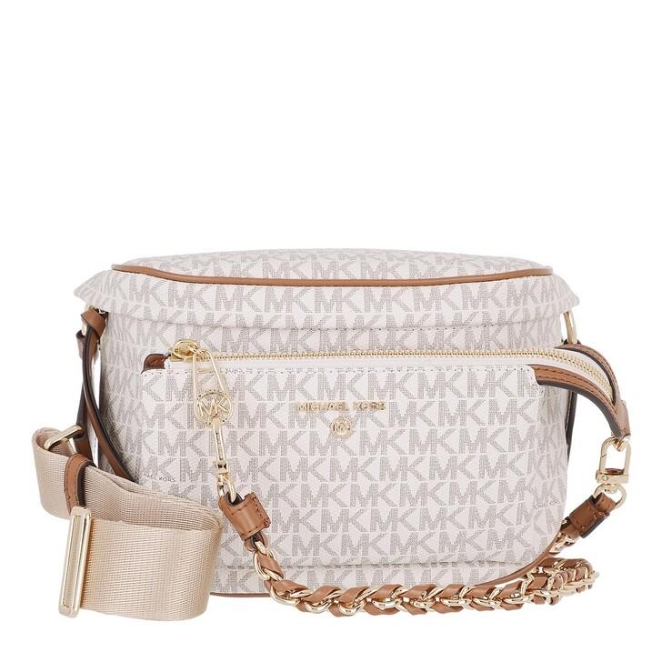 bags, MICHAEL Michael Kors, Slater Medium Sling Pack Messenger Vanilla/Acrn