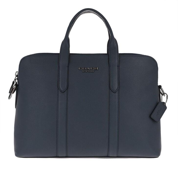 Handtasche, Coach, Men Slim Brief Midnight Navy