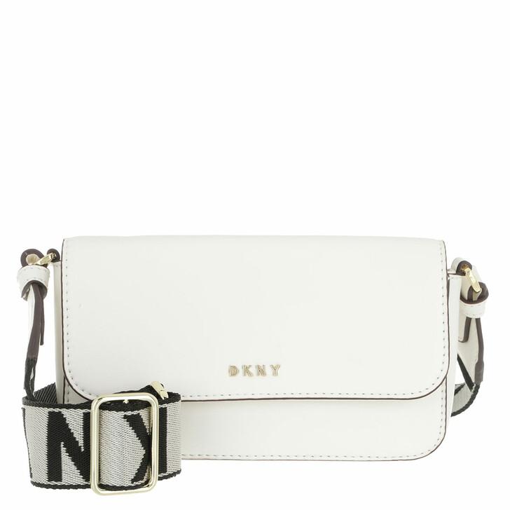 Handtasche, DKNY, Winonna Flap Crossbody White Gold