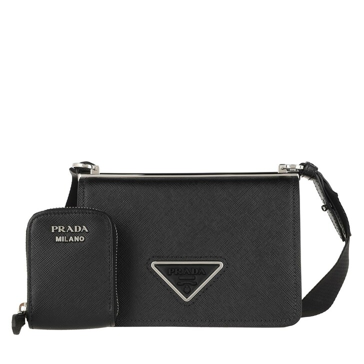 Handtasche, Prada, Handle Bag Leather Black