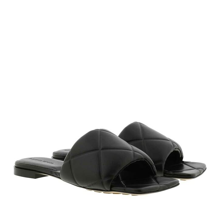 Schuh, Bottega Veneta, Lido Flat Sandals Black
