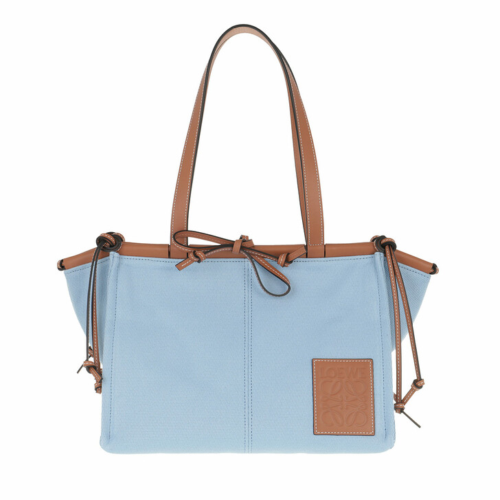 Handtasche, Loewe, Small Cushion Tote Bag Leather Light Blue