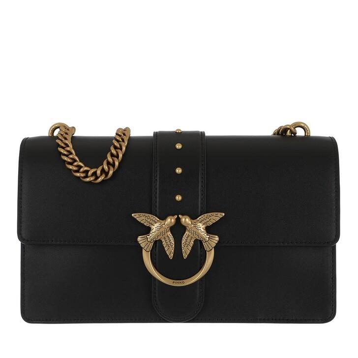 bags, Pinko, Love Classic Icon Simply 6 Crossbody Black