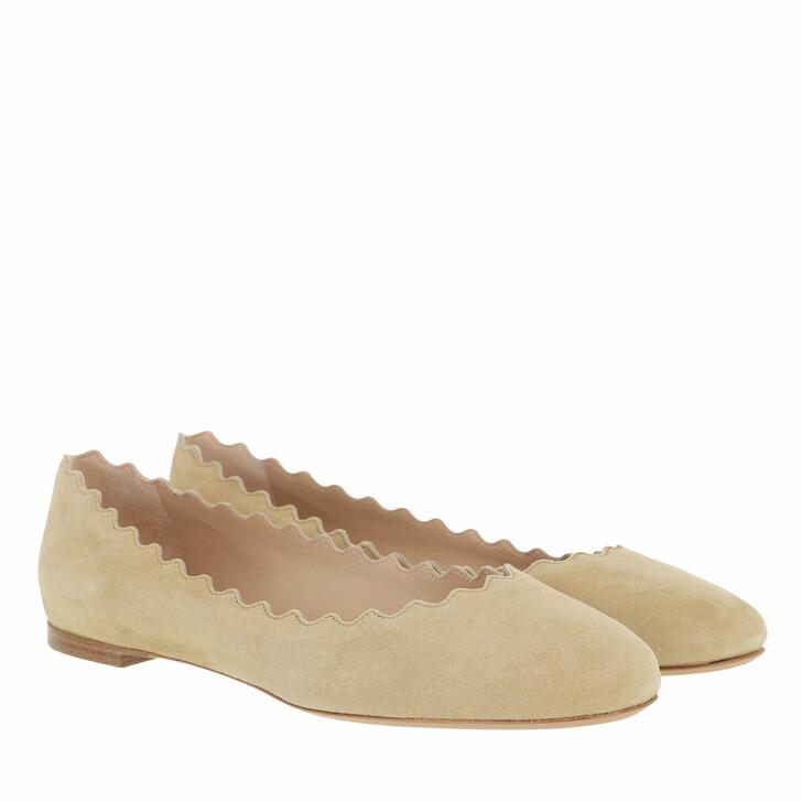 Schuh, Chloé, Lauren Ballerina Wheat Beige