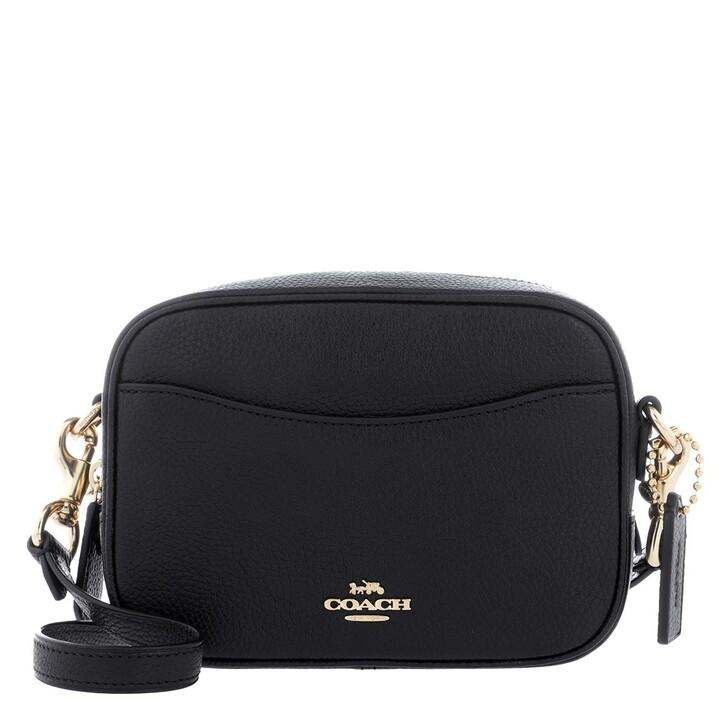 Handtasche, Coach, Polished Pebble Leather Camera Bag 16 Gd/Black