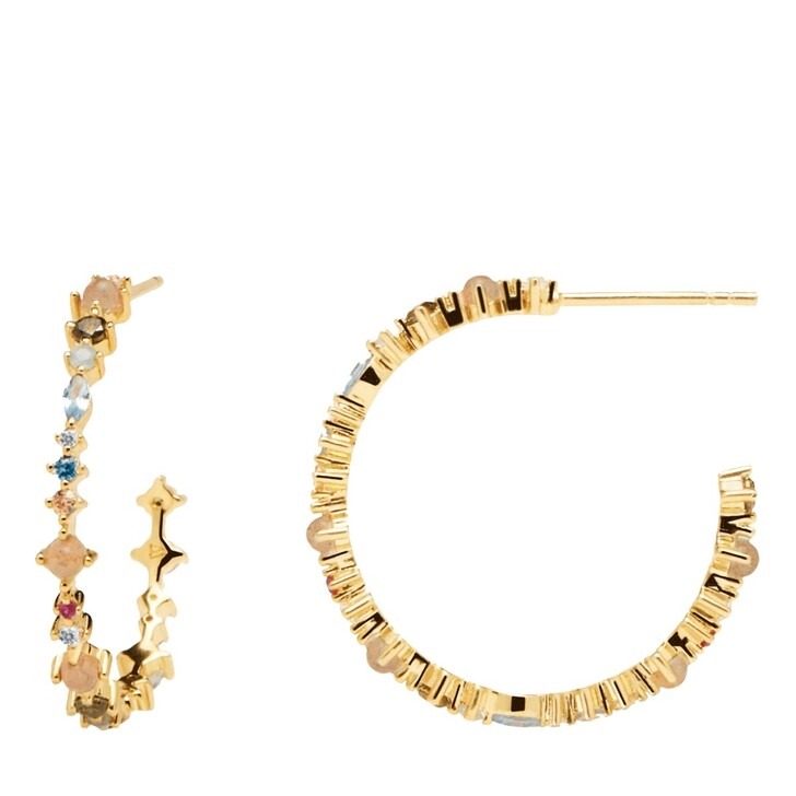 Ohrring, PDPAOLA, Halo Gold Earring Yellow Gold