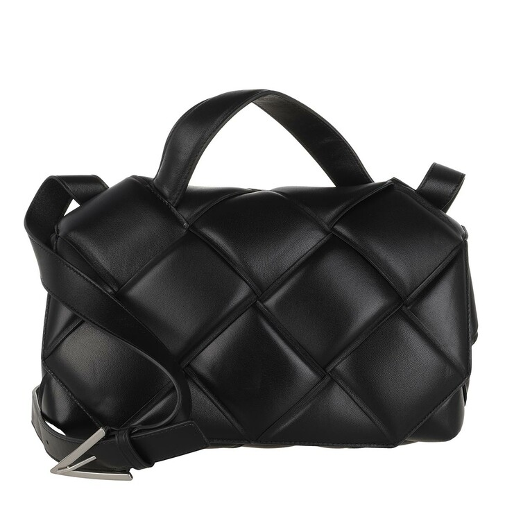 Handtasche, Bottega Veneta, Crossbody Bag Leather Black