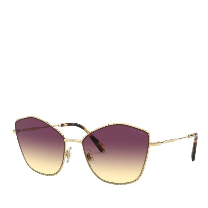 Sonnenbrille, Miu Miu, METALL WOMEN SONNE GOLD