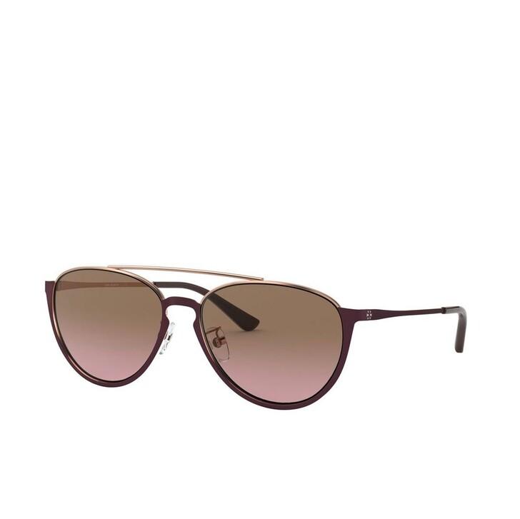 Sonnenbrille, Tory Burch, Woman Sunglasses Metal Shiny Bordeaux Metal