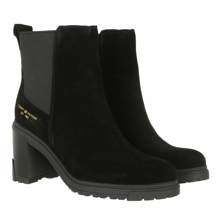 shoes, Tommy Hilfiger, TH Outdoor High Heel Boot Black