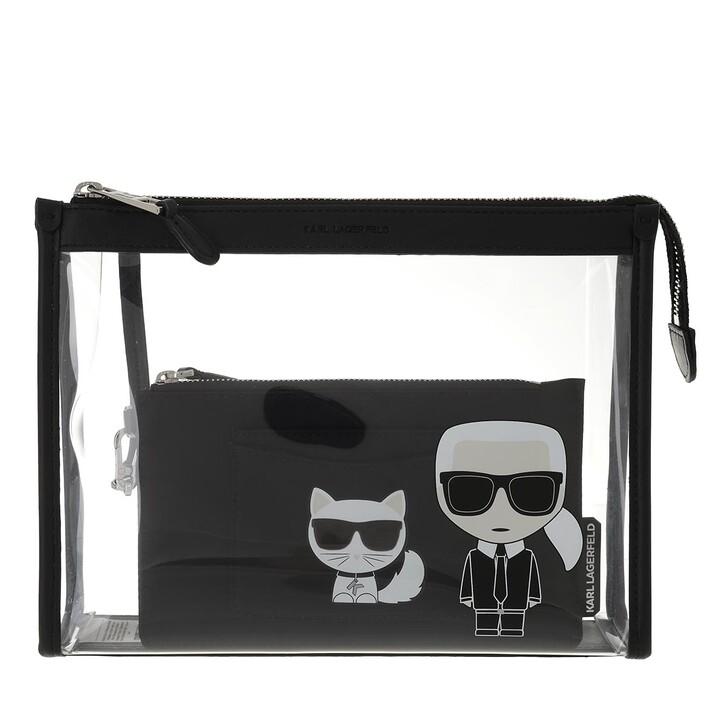 necessaires, Karl Lagerfeld, Ikonik Transparant Pouch  Black