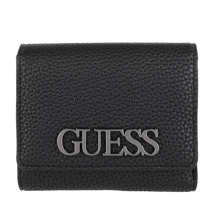 wallets, Guess, Uptown Chic Small Trifold Wallet Black