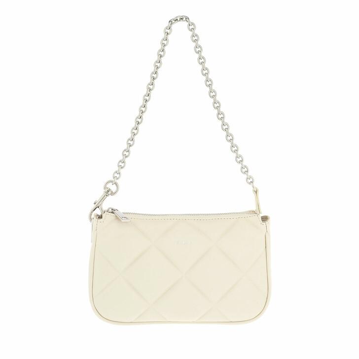 bags, Furla, Furla Moon Mini Shoulder Bag White Cotton