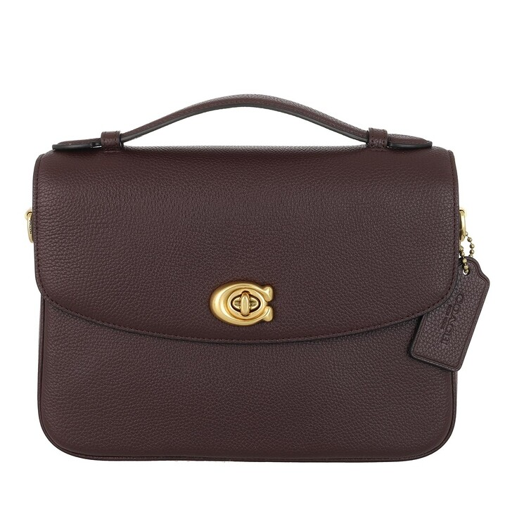 Handtasche, Coach, Polished Pebbled Leather Cassie Crossbody Oxblood