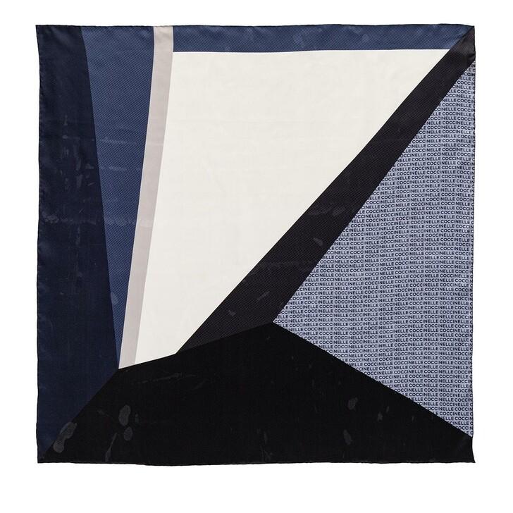 scarves, Coccinelle, Colour Block Foulard Scarve Pacific Blue