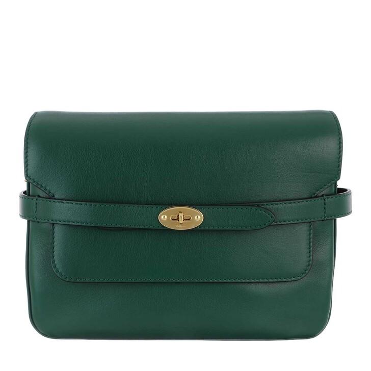 Handtasche, Mulberry, Bayswater Belted Shoulder Bag Leather Mulberry Green