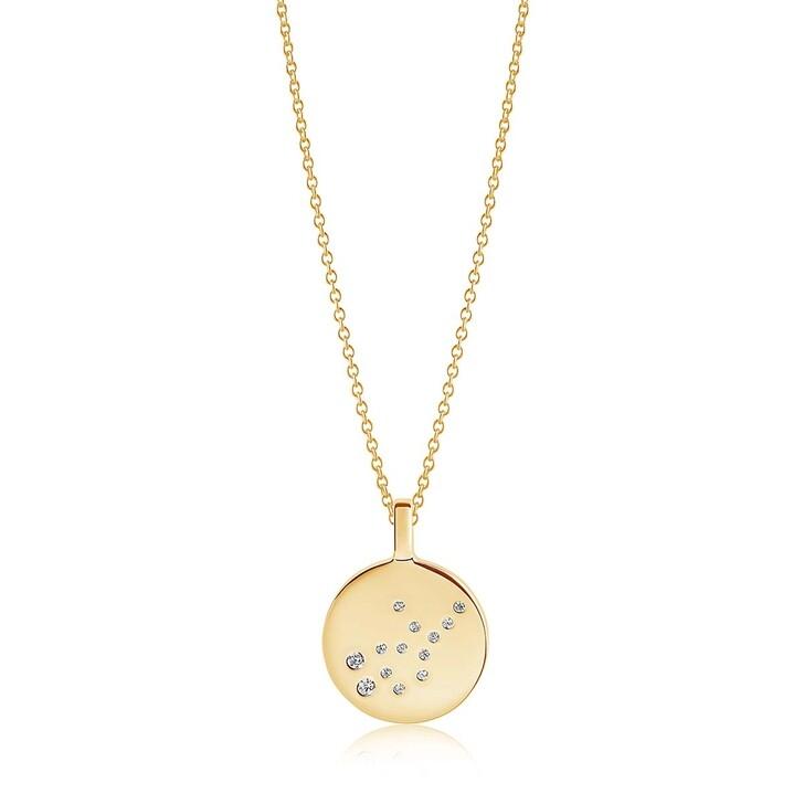 Kette, Sif Jakobs Jewellery, Zodiaco Virgo Pendant White Zirconia 18K Gold Plated