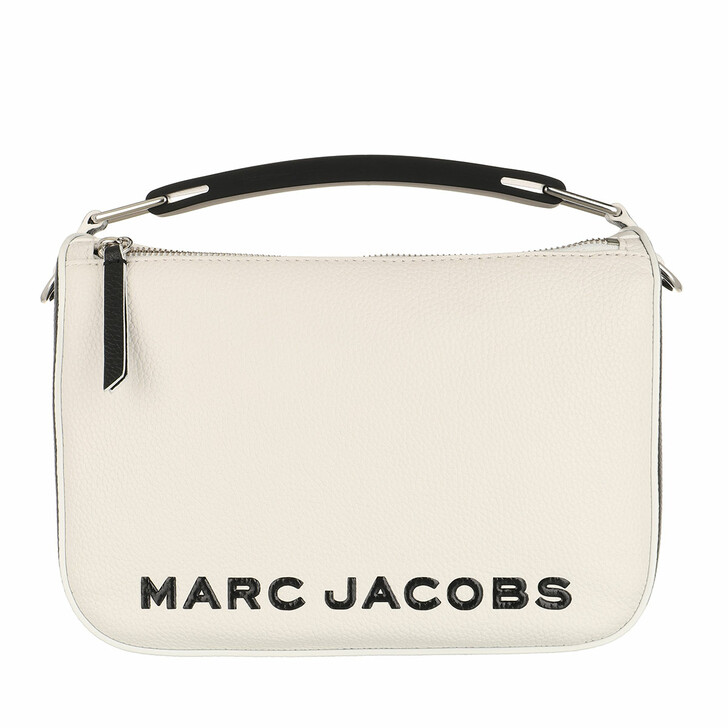 bags, Marc Jacobs, The Colorblock Softbox Crossbody White