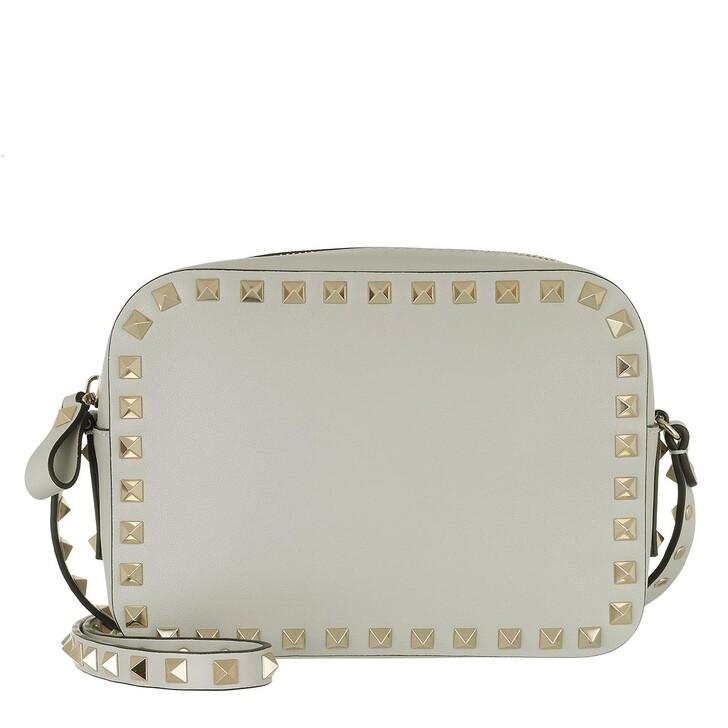 Handtasche, Valentino Garavani, Rockstud Camera Crossbody Bag Opal Grey