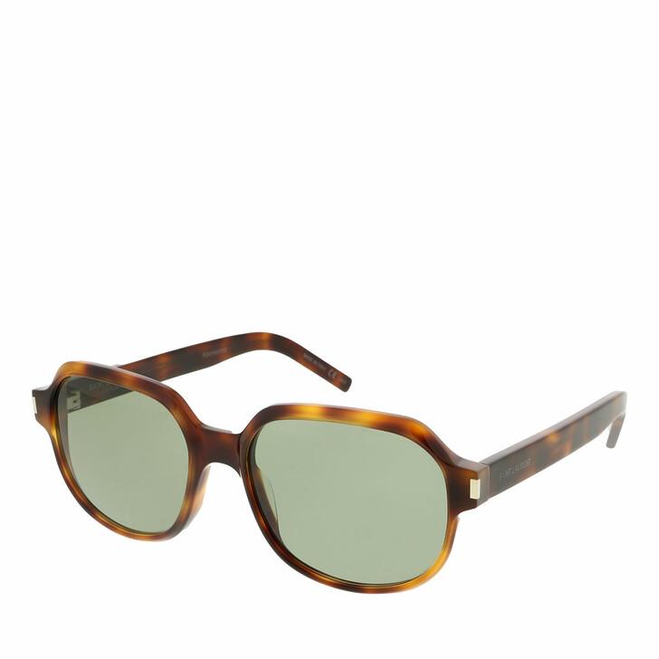 sunglasses, Saint Laurent, SL 496-002 57 Sunglass Woman Acetate Havana-Havana-Green