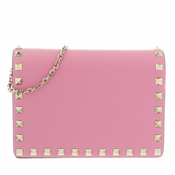 bags, Valentino Garavani, Rockstud Portatutto Pouch Dawn Pink