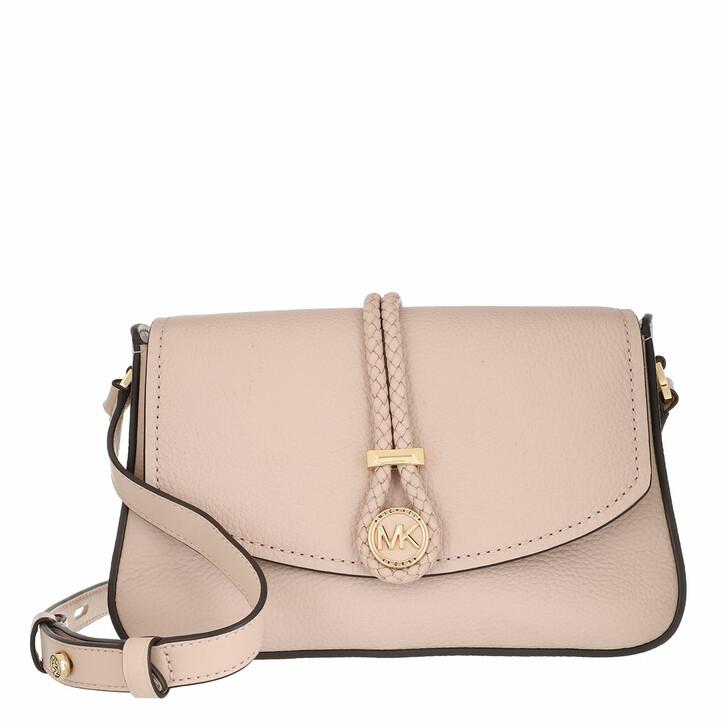 bags, MICHAEL Michael Kors, Medium Flap Messenger Handbag  Leather Soft Pink