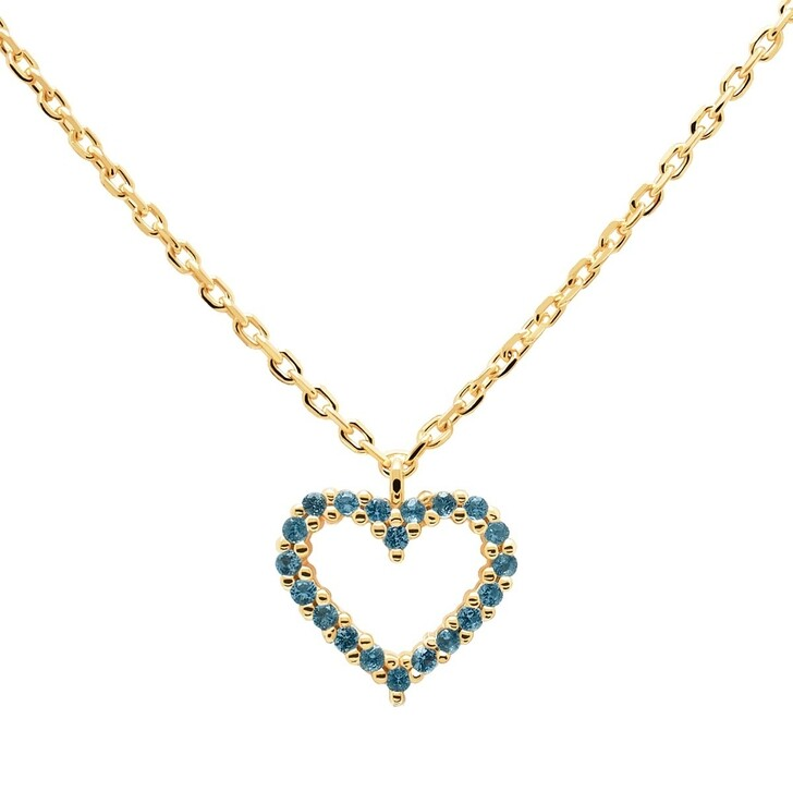 Kette, PDPAOLA, Necklace Heart Celeste/Yellow Gold