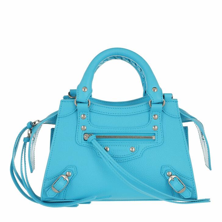 Handtasche, Balenciaga, Neo Classic Mini Top Handle Bag Grained Calfskin Azur