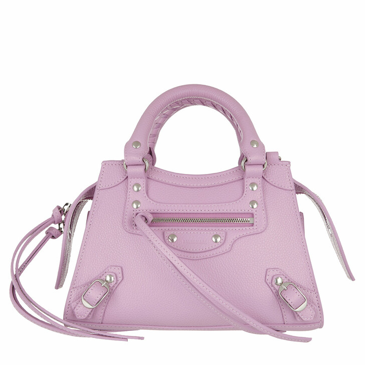 Handtasche, Balenciaga, Neo Classic Mini Top Handle Bag Grained Calfskin Purple