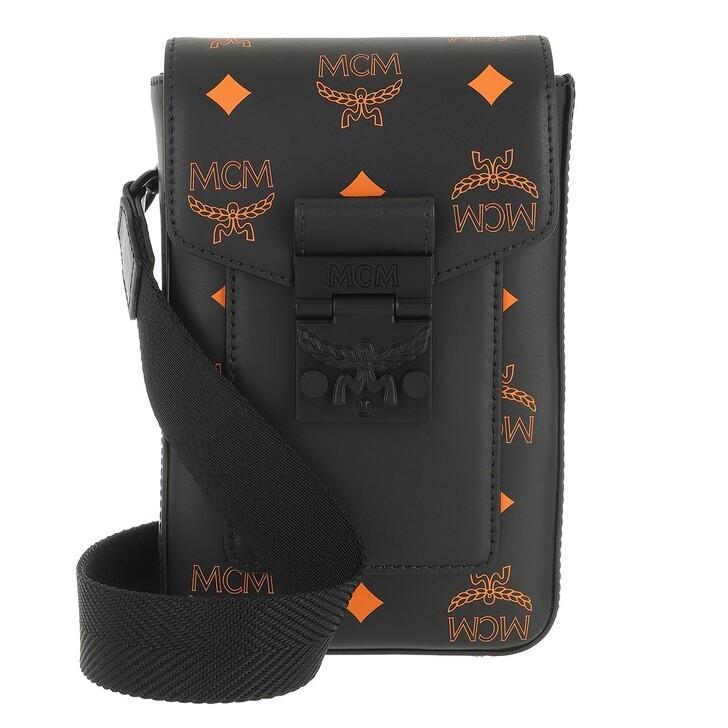 bags, MCM, Color Splash Logo Crossbody Mini  Black
