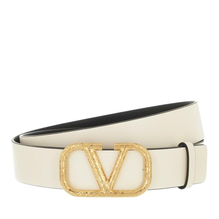 belts, Valentino Garavani, Buckle Belt Light Ivory