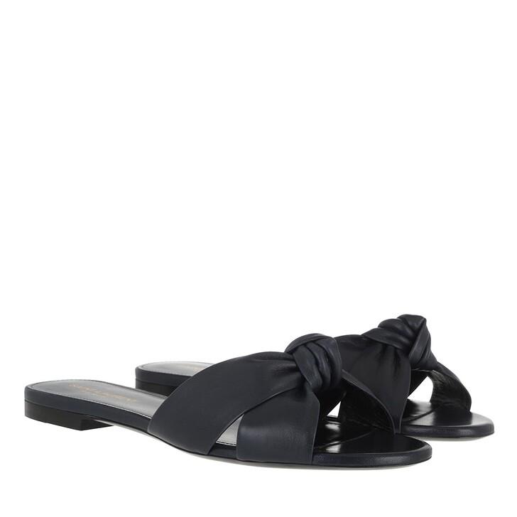Schuh, Saint Laurent, Bianca Low Sandal Leather Navy