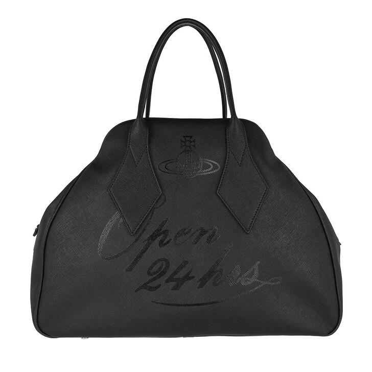 Handtasche, Vivienne Westwood, Derby Large Yasmine Open 24H/Black