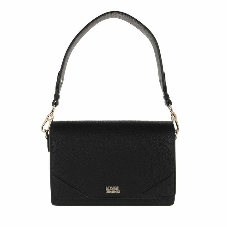bags, Karl Lagerfeld, K/Stone Big Shoulderbag A999 Black
