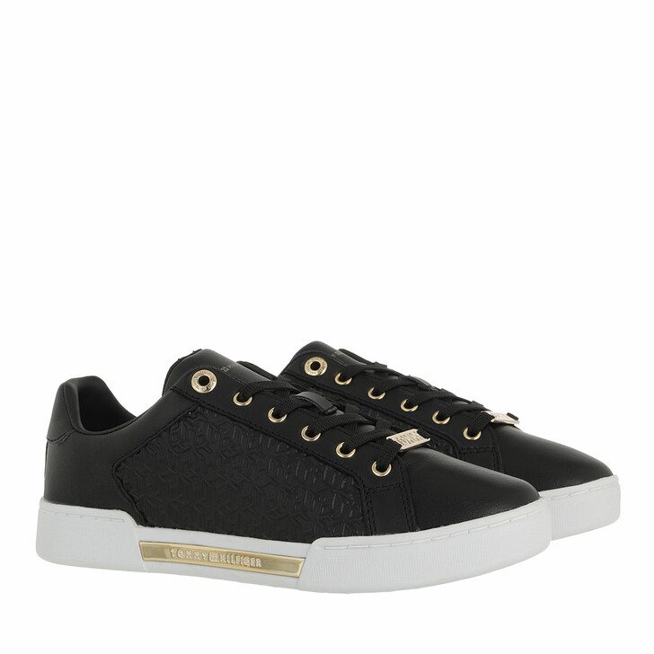 Schuh, Tommy Hilfiger, TH Monogram Elevated Sneakers Black