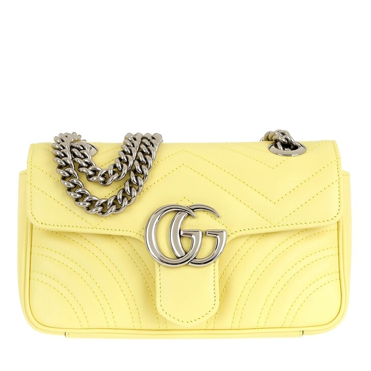 Handtasche, Gucci, GG Marmont Mini Bag Leather Banana