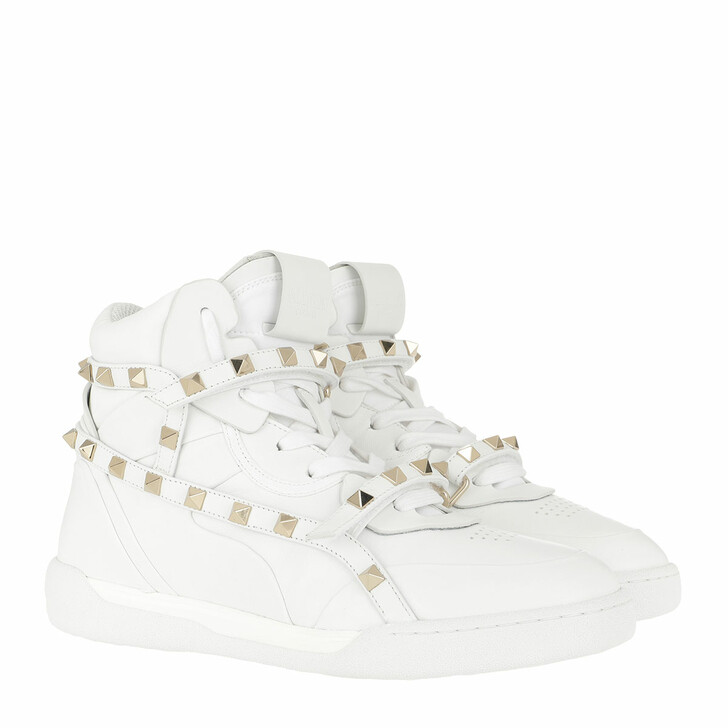 Schuh, Valentino Garavani, Rockstud High Top Sneakers Bianco