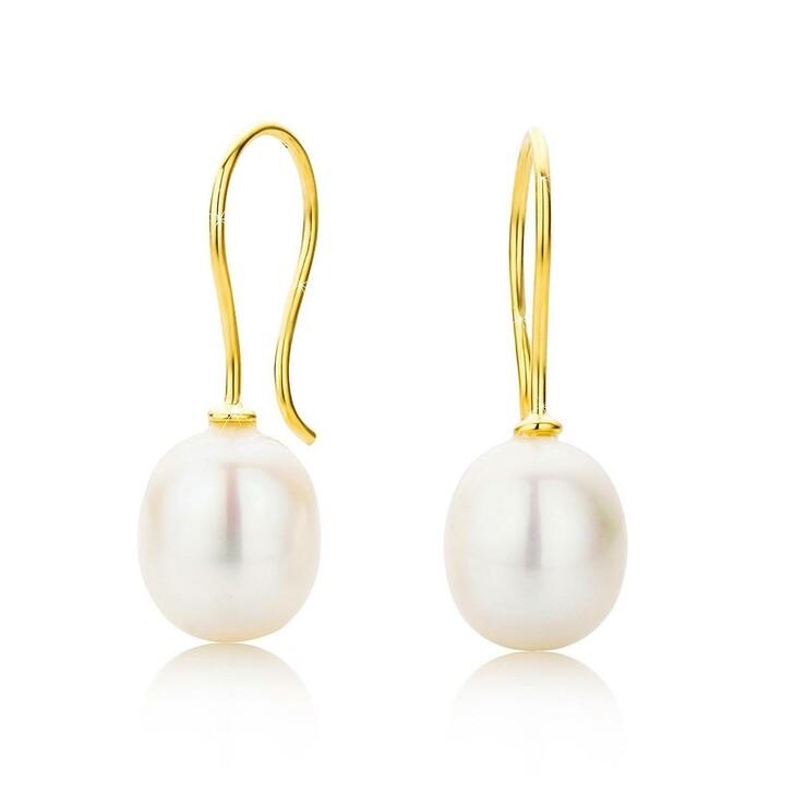 Ohrring, DIAMADA, 18KT Freshwater Pearl Earrings  Yellow Gold