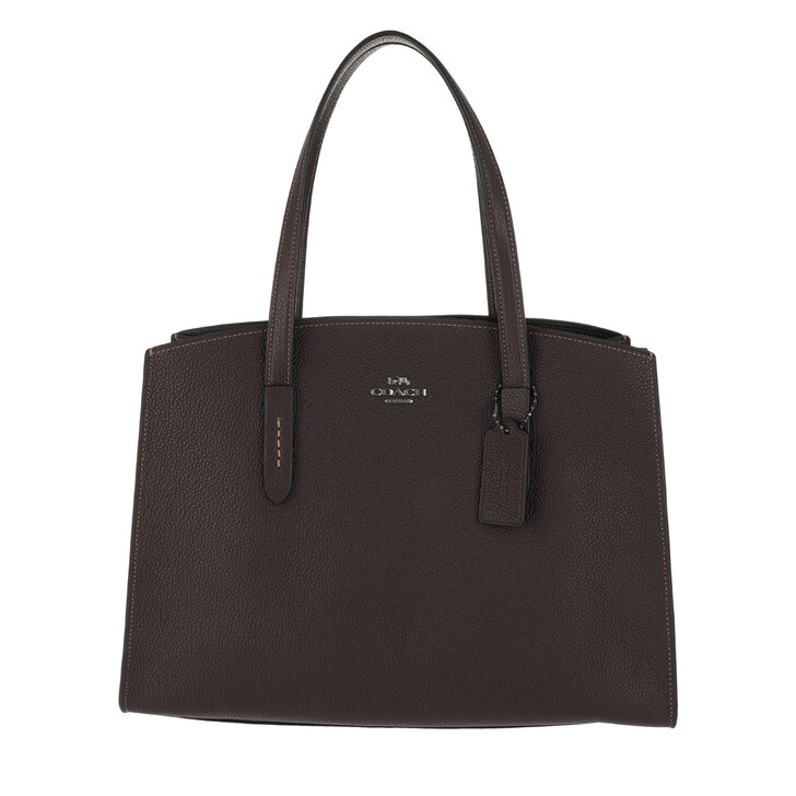 Handtasche, Coach, Polished Leather Charlie Carryall Oxblood
