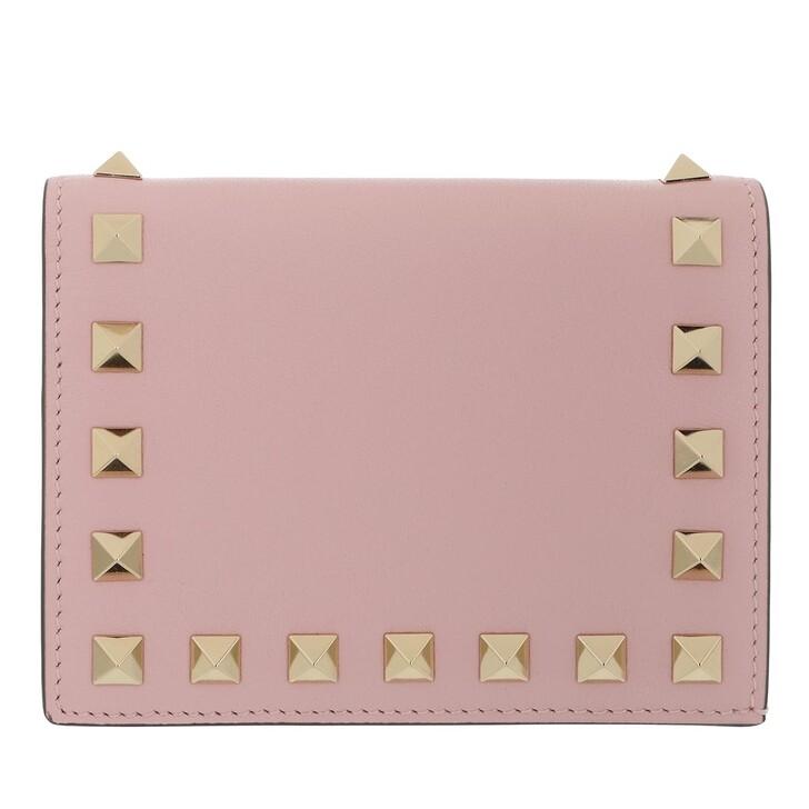 wallets, Valentino Garavani, Rockstud Small Wallet Rose Quartz
