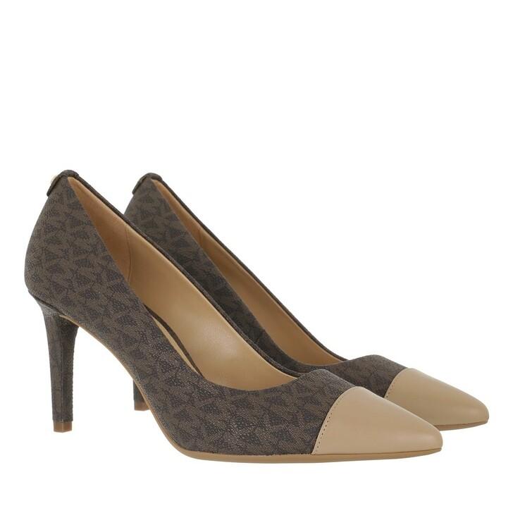 shoes, MICHAEL Michael Kors, Dorothy Flex Mid Toe Cap Brown